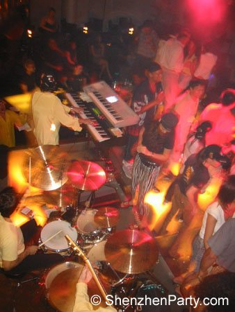 This is a pretty slick promo shot of one the Groove Inc shows in Shenzhen, China. 2003