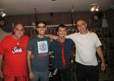 Soultone Cymbals Endorsement, Soultone HQ, Encino, CA. July 2013. From L to R, Mark, Tomer, Me, Iki.