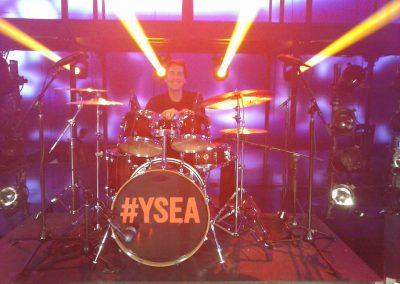 Fernando & his drums. Yo Soy El Artista (Telemundo TV show), Orlando, FL. Nov 2014